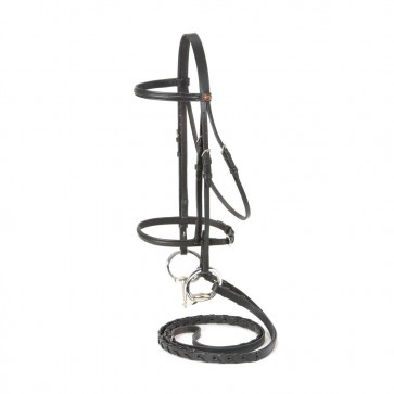Raised Draft Horse Snaffle Bridle