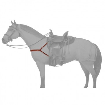 Leather Mule 4 Point Breastcollar