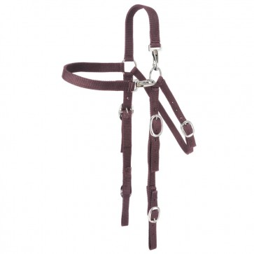Nylon Mule Headstall with Snap Crown and Brow