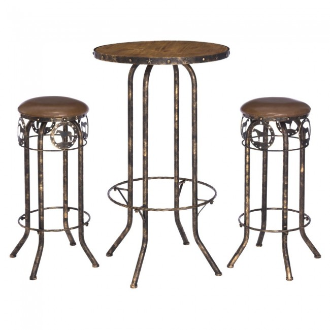 3 Piece Pub Table And Stool Set