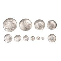 Bright Cut Edge Low Dome Chicago Screw Concho