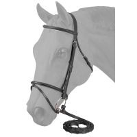 EquiRoyal Padded Flash Noseband Snaffle Bridle
