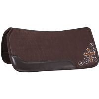Contour Felt Saddle Pad with Crystal Cross Design