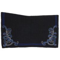 Contour Wool Saddle Blanket with Crystal Floral Design