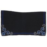 Contour Wool Saddle Blanket with Crystal Arrow Design