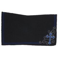 Contour Wool Saddle Blanket with Crystal Cross Design