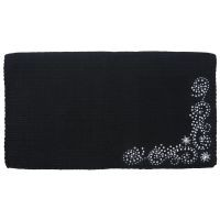 Rowel Design Wool Blend Saddle Blanket