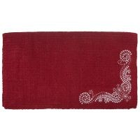 Ornate Design Wool Blend Saddle Blanket