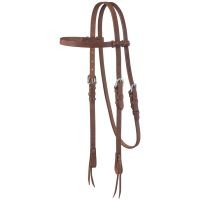Harness Leather Browband Headstall w/Tie Ends