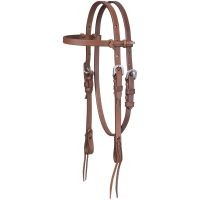 Miniature Harness Leather Browband Headstall with Tie Ends