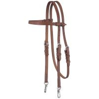 Harness Leather Browband Headstall w/Snap Ends