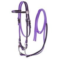 King Series Horse Nylon w/ Leather Bridle