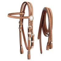 Roughout Headstall with Reins