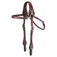 Leather Mule Headstall with Snap Crown
