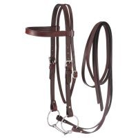 Western Leather Browband Draft Bridle