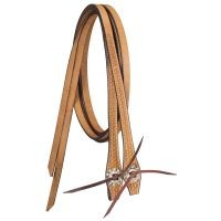 "Tough-1 Premium Leather Split Reins 5/8"" X 8' Basket Tooled w/ Silver Hardware"