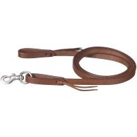 Large Pony Harness Leather Roping Reins with Tie Ends