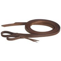 "5/8"" x 8ft Doubled & Stiched Harness Leather Reins w/Waterloop"
