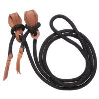Tough-1 Cord Roping Reins with Slobber Straps