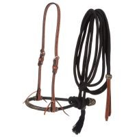 Tough-1 Basketweave Bosal Hanger, Bosal and Cord Mecate