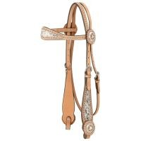 Browband Headstall W/Spotted Hair Overlay