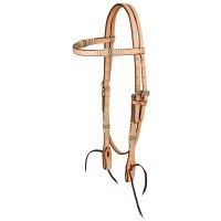 Browband Headstall W/Braided Rawhide