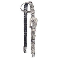 Greyson Belt Buckle Bling Single Ear Headstall