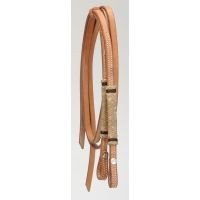 Royal King Miniature Natural/Black Rawhide Split Reins