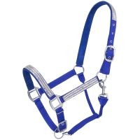 Adjustable Nylon Halter with Crystal Accents
