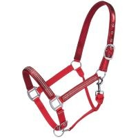 Adjustable Nylon Halter with Foil/Crystal Overlay