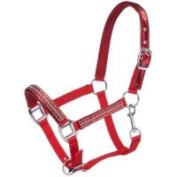 Adjustable Nylon Miniature Halter with Foil/Crystal Overlay