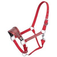 Bronc Nose Nylon Halter with Foil/Crystal Overlay