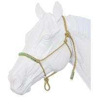Poly Rope Tied Halter with Crystal Accents