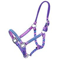 Mini Braided Cord Halter with Crystal Accents