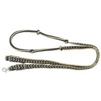 Metallic Cord Knotted Roping Reins