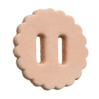 "Royal King® Slotted 1 1/2"" Leather Rosettes"