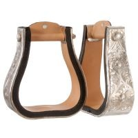 "Royal King Silver 3"" Bell Stirrups"