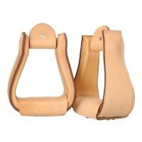Wide Leather Covered Stirrups