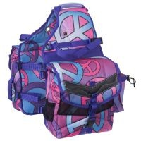 Tough-1 Multi-Pocket Insulated Nylon Saddle Bag in Prints