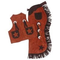 Tough-1 Youth Vest & Chap Set w/ Stars