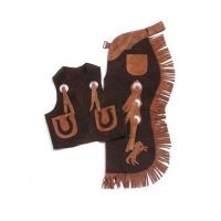 Tough-1 Youth Vest & Chap Set w/ Horses