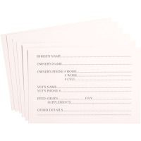 10 Pack Replacement Stall Information Cards