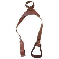 Tough-1 Kids Nylon Slip-On Stirrup Set (Leather Covered Stirrups)
