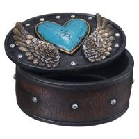 Heart and Wing Trinket Box