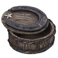 Horseshoe and Barbwire Trinket Box