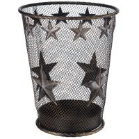 Stars Wastebasket With Glitter Finish