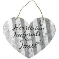 Corrugated Metal Signs - Heart