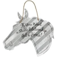 Corrugated Metal Signs - Horse