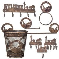 8 Piece Metal Equine Motif Set