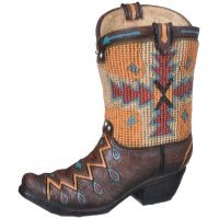 Aztec Cowboy Boot Bank